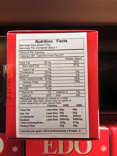 You need to divide the percentages by 16, since it accounts for the whole box of almonds.