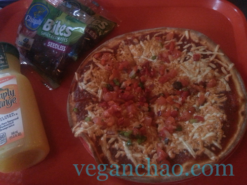 Disneyworld Pizzafari Vegan Vegetable Pizza