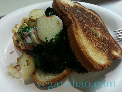 Definitely a tasty vegan meal--- plus, the chef seemed elated to make something other than his usual assembly line fare!
