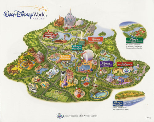 Disneyworld sure is huge... eep!
