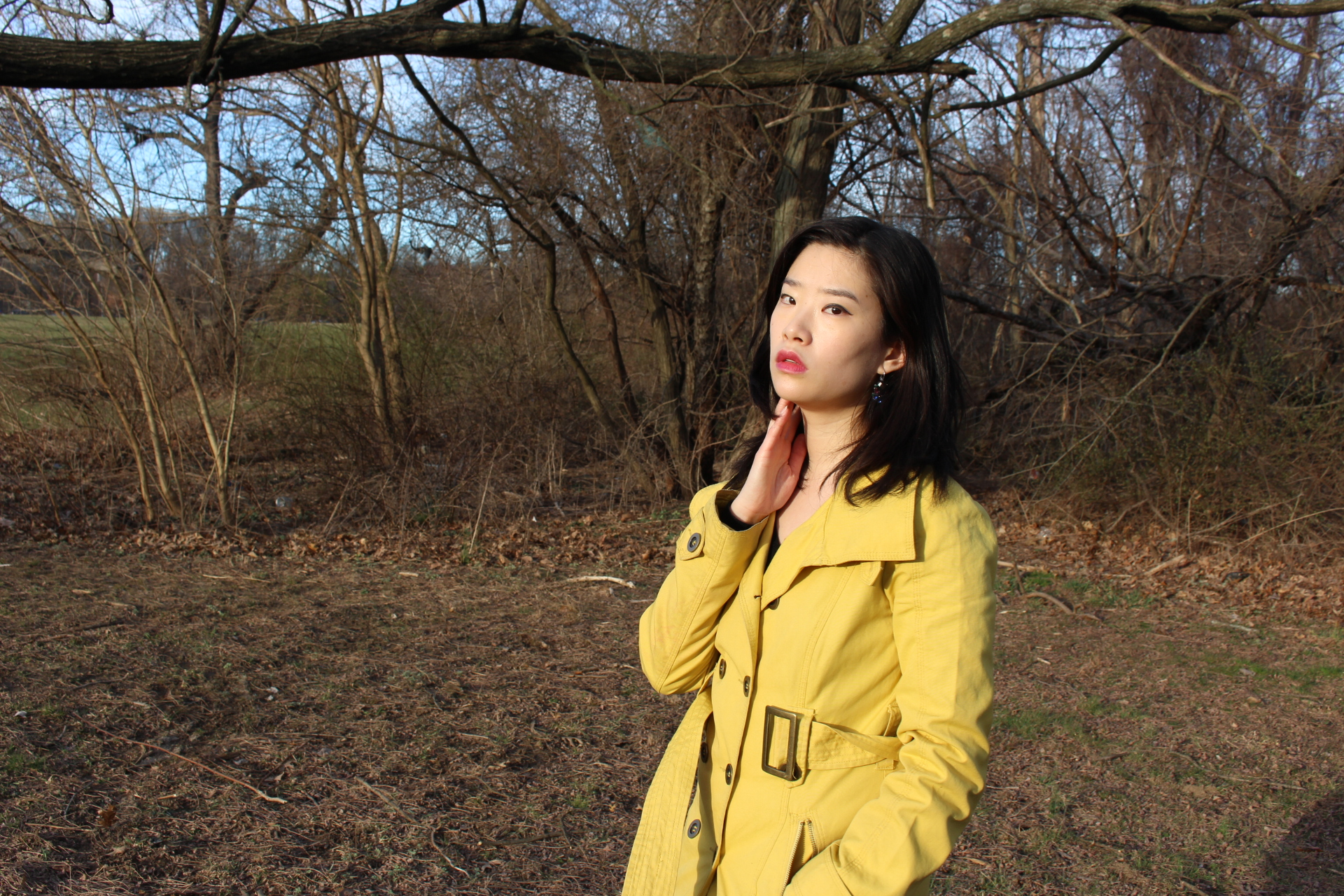 Vegan Chao Purple Spring Yellow Trench Fashion_2793