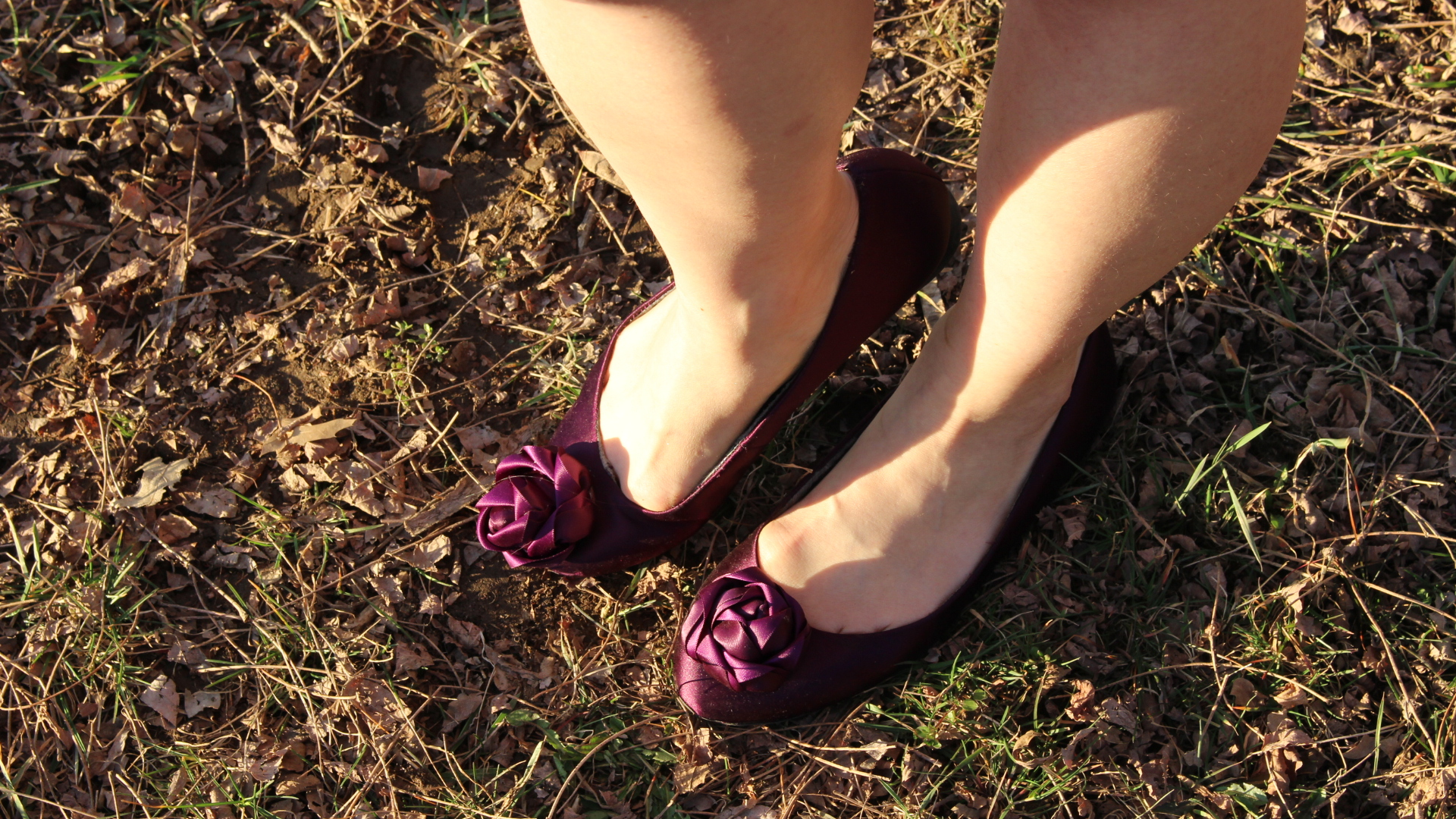 For that comfort factor, slip into these Paris Hilton purple satin Briana flats.